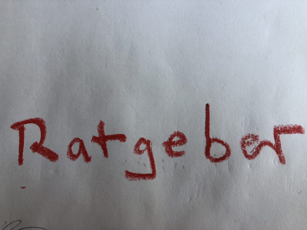 "Handgeschrieben ""Ratgeber"""