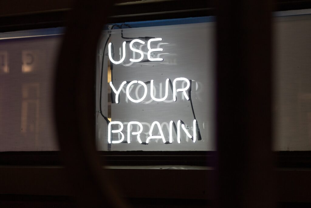 Leuchtschrift: use your brain